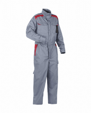 Blaklader 6054 Industry Coverall 65% Polyester 35% Cotton (Grey/Red)